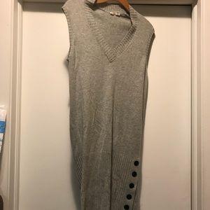 Moth Anthropologie Gray Wool Blend Sweaterdress S
